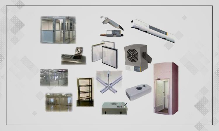 تصویری از تجهیزات اتاق تمیز