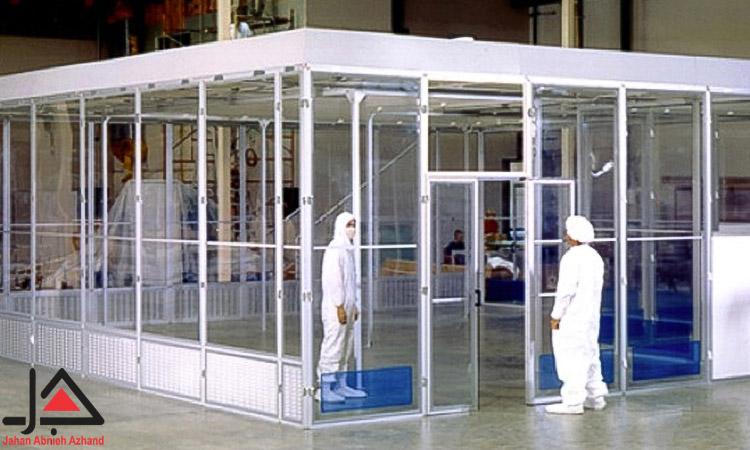 اجزای مختلف پرده PVC کلین روم